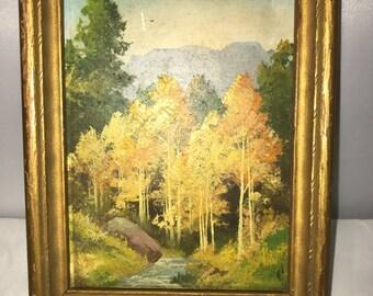 Oil on Board Colorado Landscape by William J. Page