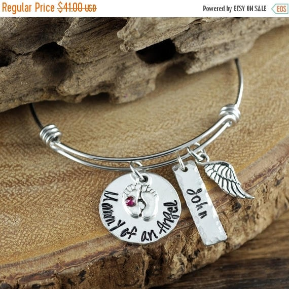 15% OFF SALE Mom of an Angel Bracelet, Personalized Mom Bracelet, Loss of Baby, Infant Loss, Remembrance Bracelet, GIft for Mom, Miscarriage