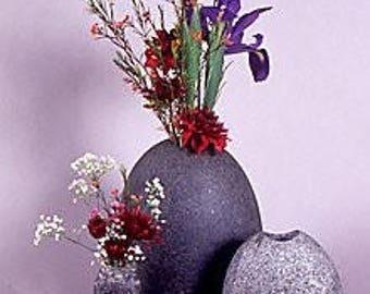 "Natural Stone Vase 5-6"" tall"