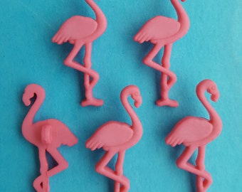 SALMON PINK FLAMINGO - Peach Bird Zoo Safari Animal Dress It Up Craft Buttons