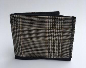 Bifold wallet, handmade wallet, recycled wallet, fabric wallets, men's wallet, artsy wallet