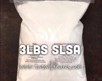 3 LBS SLSA, Eco Certified Surfactant, Lathanol, Sodium Lauryl Sulfoacetate, LAL Coarse, Bubbles!