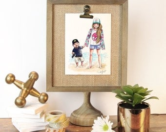 ADD-ON PRINT - for Kids Character Sketch already ordered