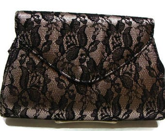 Vintage Black Lace Clutch Black Lace Clutch Bag Neiman Marcus Evening Bags Black Lace Clutch Purse Black Envelope Clutch