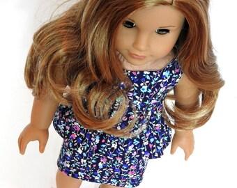 18 Inch Doll Dress, AG Doll Dress, Trendy 18 Inch Doll Easter Dress fits American Girl Doll