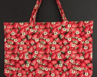 Strawberry Market Bag/Tote Bag/Shopping Bag