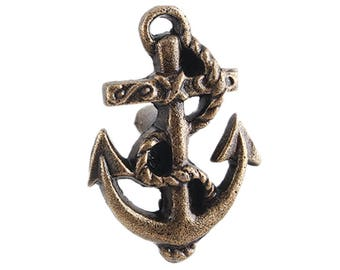 Metal Anchor Drawer Knobs - Nautical Cabinet knobs (RTG01)
