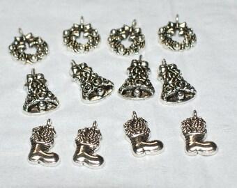Set of 12 Christmas Charms