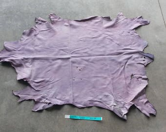 Lavender Leather Hide - Medium Weight Sheep - Lot No. 25270TURQ