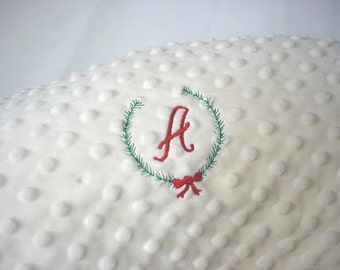 Holiday Monogram Boppy Pillow Cover Nursing Pillow