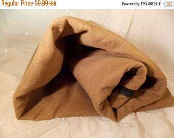 ON SALE Faux Suede-Mocha Faux Suede-Bonded Suede-Bag or Purse Fabric
