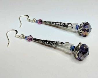 Mini Pipette Tip Earrings in Purple Shades