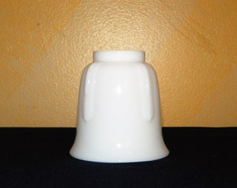 "Milk Glass Lamp Shade, Replacement Hurricane Hand Blown Lamp Shade, 3 1/2"" Wide, fits a 1 1/2"" Ring, Fits a Hurricane Glass Shade"