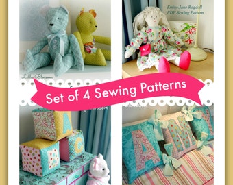 Set of 4 Sewing Patterns - Children