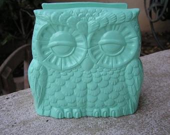 Tootsie Pop Owl Napkin Holder Mint Green
