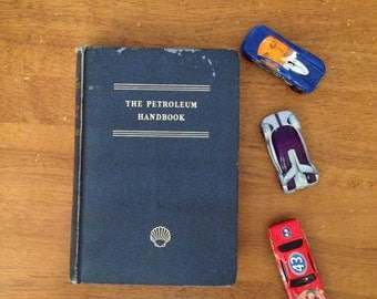 petroleum handbook shell oil employee 1948 book vintage