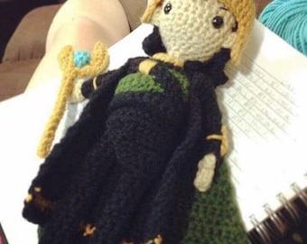 Crocheted Loki Doll