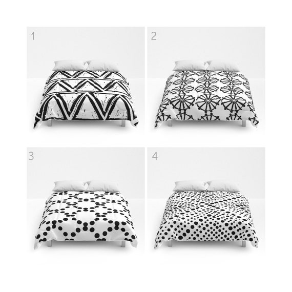 White and Black Comforter - Queen Comforter - King Comforter - Full Comforter - Twin Comforter Twin XL  Bedding Bedspread Bed cover