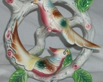 Vintage Exotic Bird Figurine or Wall Hanging