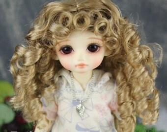 """Fatiao - New Dolls Wig Dollfie Yo-SD 1/6 BJD 6-7"""" size -Baby Brown"""