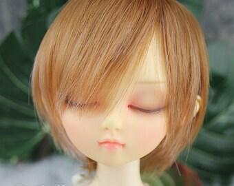 Fatiao - New Dollfie MSD Kaye Wiggs 1/4 BJD Size 7-8 inch Dolls Wig - Brown & Pink