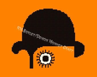 A Clockwork Orange Cross Stitch DIGITAL PATTERN