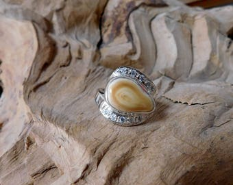 Elk Tooth in Sterling Silver with Lab Created Diamonds RF995