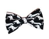 Dachshund Bow Tie - Black Dog Bowtie - Cat Accessory - Girls Hair Clip