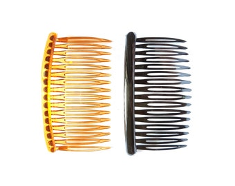 6 pcs Mix Brown and Black Hair combs length 3.34 inches 16 teeth