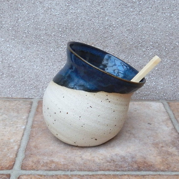 Salt pig or cellar hand thrown stoneware pottery handmade ceramic wheelthrown handthrown