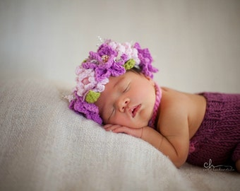 Flower crown, flower girl, newborn flower headband, newborn flower crown, newborn headband, newborn prop