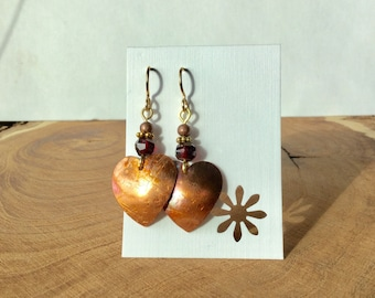 A symbol of my love! Copper heart earrings