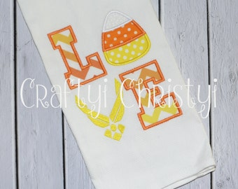 Air Force Love Candy Corn Kitchen Towel