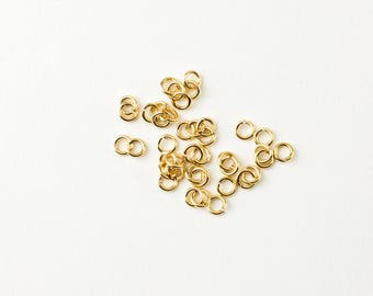 25pcs 14K Gold Filled 4mm Open Jump Rings 20 Gauge, Made in USA