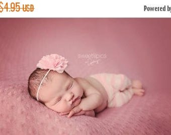 30% OFF SPRING SALE Light Pink Flower Headband, Emma Petal, Newborn Headband, Baby Headband, Infant Headband, Photo Prop, Flower Girls, Wedd