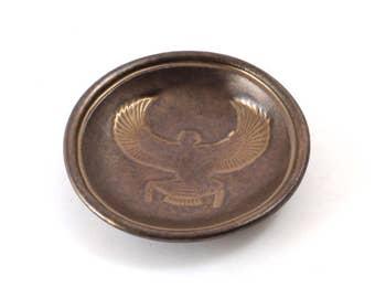 EYGPTIAN Goddess Isis Bowl Handmade Raku Pottery