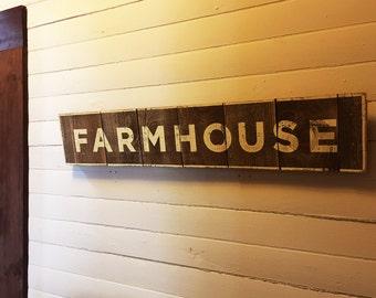 Farmhouse Sign on Cedar Planks 8 x 38