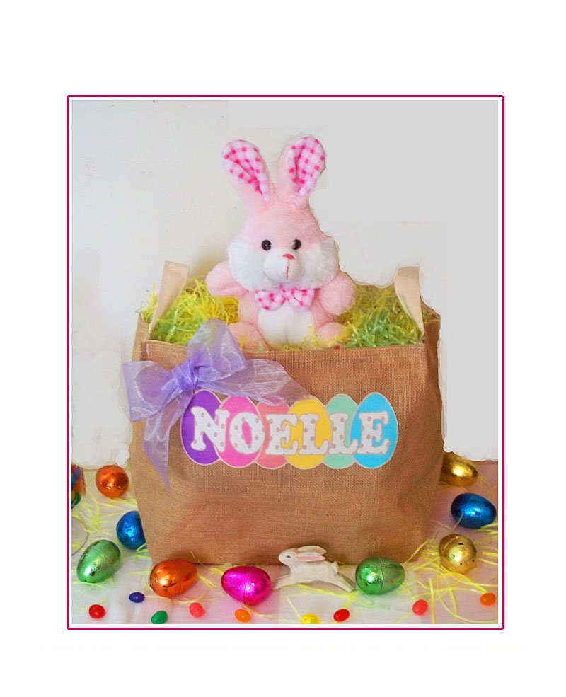 Easter Basket Personalized Easter Personalized Easter Bag