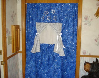 Doorway Puppet Theater Fabric Stage