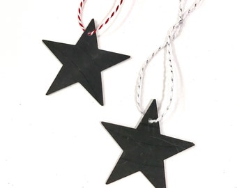 Vinyl Record Art: Two Star Ornaments