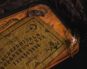 Primitive Ouija Board Cross Stitch Pattern