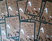 mountain wedding invites for Brandy