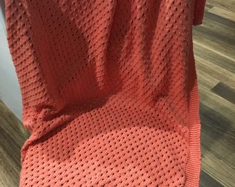 Handknitted Baby Blanket / Throw