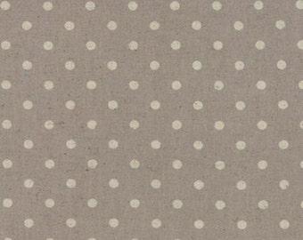 Linen MOCHI DOT in Putty .. Moda Fabric .. cotton/linen blend 32910 22