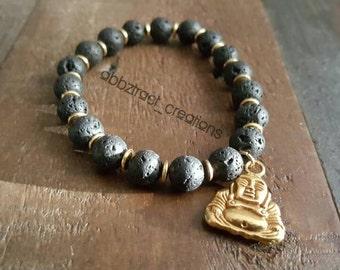 Buddha & Lava beads