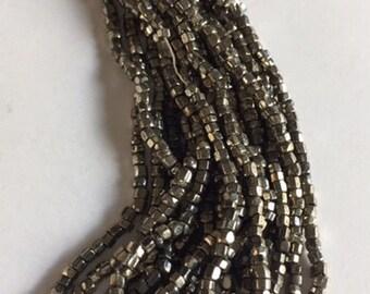 Vintage Czech Cut Glass Beads - Silver