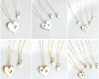 Mother Daughter Necklace Set  - M om and Daughter Necklace - Mom from Daughter - Mother Daughter Gift - Mom and Daughter Jewelry - For Mom