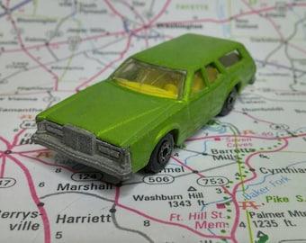 Vintage Green Matchbox Cougar Villager No 74 Superfast 1978