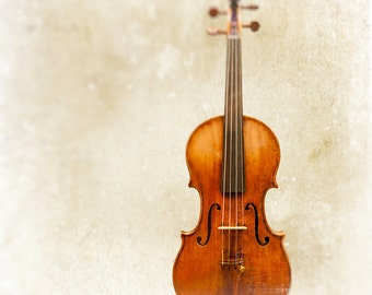 Violin Photograph, Stradivarius, minimalist, music wall art prints, color photography, brown, creme, instrument art, musician, wood, decor
