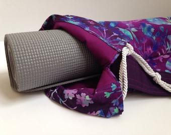 Purple Butterfly Yoga Mat Bag